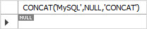 MySQL CONCAT with NULL value