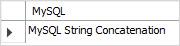 MySQL string concatenation