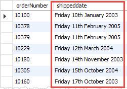 Date format in sql