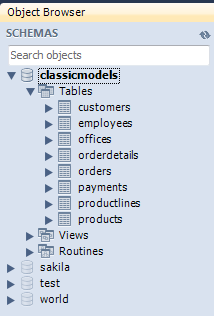 classicmodels database