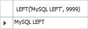 MySQL LEFT Function example