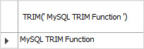 MySQL TRIM BOTH example