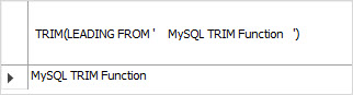 MySQL TRIM LEADING space