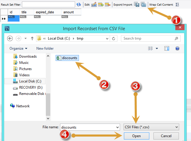 Import CSV File Into MySQL Table