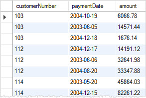 mysql row_number payments table