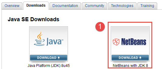 1 download netbeans ide with jdk