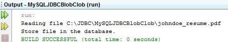 mysql jdbc blob example