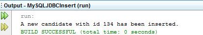 MySQL JDBC INSERT