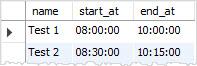 MySQL TIME HHMMSS literal