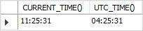 MySQL UTC_TIME