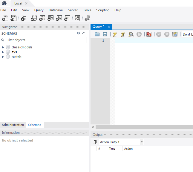 Mysql Workbench Create Database And Table
